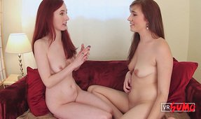 VR Porn Video - Stephie and Penny Having Nude Interview About Being Submissive