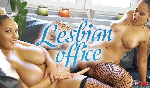 VR Porn Video - Busty Lesbians Enjoy Dildo Fucking