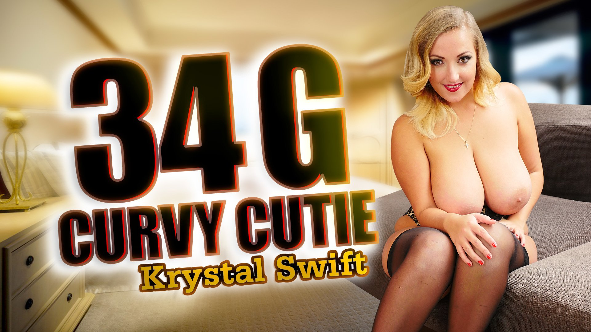 VR Porn Video - StockingsVR - 34 G Curvy Cutie with Krystal Swift