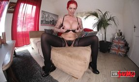 VR Porn Video - Red Haired Woman With Mega-tits In Action