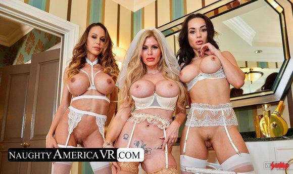 VR Porn Video - Casca Akashova And Her Bridesmaids Shares Big Cock