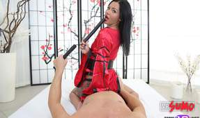 VR Porn Video - Hot Asian Slut Queen Takes a Cock Ride