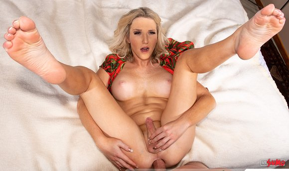 VR Porn Video - Tgirl Kayleigh Coxx Enjoys Riding Hard Cock
