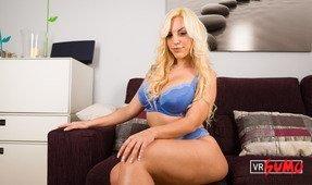 VR Porn Video - Busty Blonde Milf Fucks Her Favorite Dildo