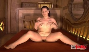 VR Porn Video - Sensual Play time on Chubby's Big Bed