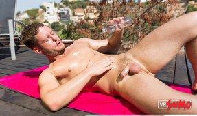 VR Porn Video - Hot Ashley Ryder Sunbathing And Masturbating