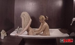 VR Porn Video - Sexy Blonde Bath Massage