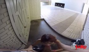 VR Porn Video - Jordana Blowing Cock In Public