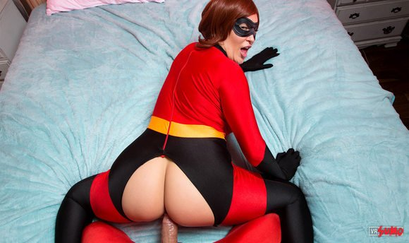 VR Porn Video - THE INCREDIBLES A XXX PARODY: Using My Superpowers To Fuck Busty Redhead Elastigirl