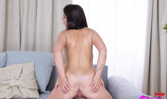 VR Porn Video - Horny Brunette Getting Down And Dirty