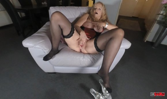 VR Porn Video - Busty Older Lady Pleasuring Herself