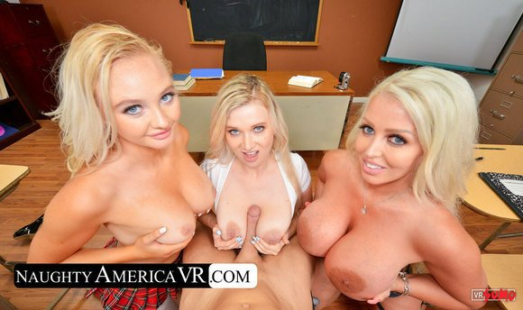 VR Porn Video - Two Bad Babes And A Naughty Professor