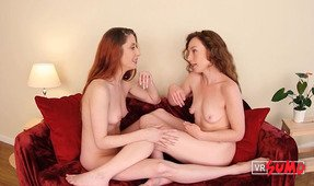 VR Porn Video - Ana Molly And Belle Talking Dirty Completely Naked