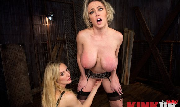 VR Porn Video - Hungry Mona Wales Fisting And Licking Pussy Of Her Busty Slave