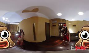 VR Porn Video - Slutty babes give Santa the best present