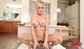VR Porn Video - Big Boobed MILF Brandi Love Working On Your Cock