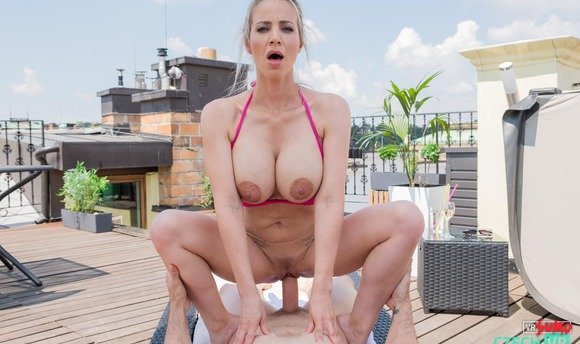 VR Porn Video - Incredible MILF Natalie Cherie Has Hardcore On The Roof