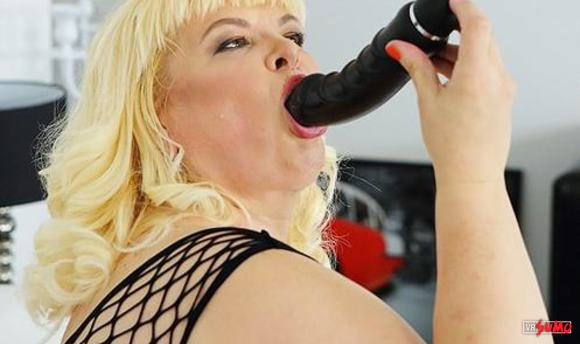 VR Porn Video - Blonde BBW Mature Plays With Her Toy