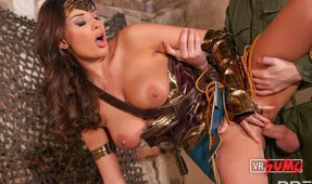 VR Porn Video - Wonderwoman Getting Her Asshole Fucked Hard