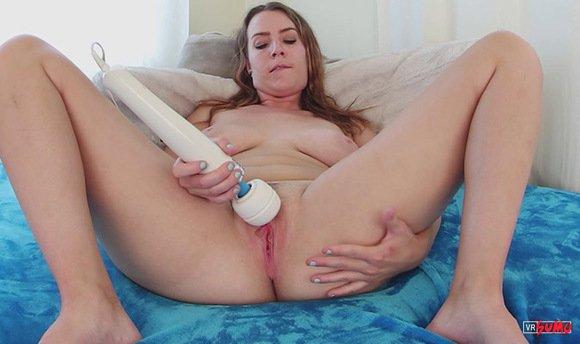 VR Porn Video - Alisha Adams Masturbating With Hitachi Wand
