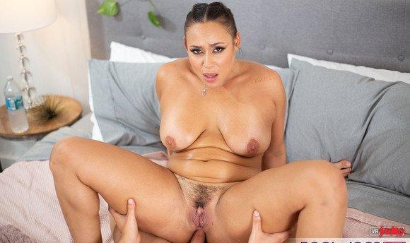 VR Porn Video - You Just Caught Big Tit Latina Babe Carmela Clutch