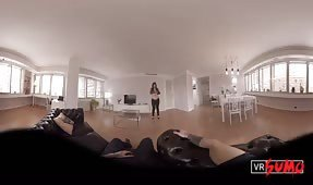 VR Porn Video - Hot brunette giving the best POV blowjob