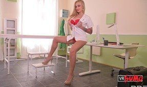 VR Porn Video - Naughty Nurse Kayla Green Playing With Her Tits And Pussy