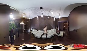 VR Porn Video - Two hot girls want you to cum