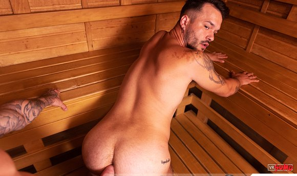 VR Porn Video - Having Fun With Friend In Steamy Sauna