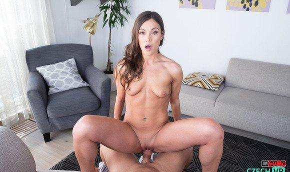 VR Porn Video - Brunette Babe Gets Destroyed By Her Fan